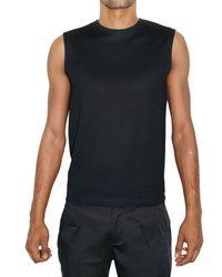 Raf Simons | Blue Back Zipped Cotton Piquet Top for Men | Lyst