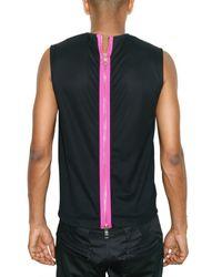 Raf Simons - Blue Back Zipped Cotton Piquet Top for Men - Lyst