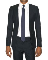 Raf Simons | Blue Wool Canvas Closureless Jacket for Men | Lyst