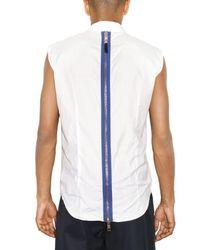 Raf Simons - White Back Zipped Striped Poplin Shirt for Men - Lyst