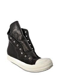 Rick Owens - Black Side Zip Sneakers for Men - Lyst