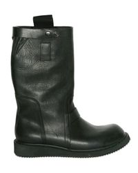 Rick Owens | Black Soft Calfskin Pull-on Boots for Men | Lyst