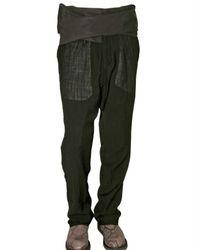 Rick Owens - Black Wool Gauze and Poplin Trousers for Men - Lyst