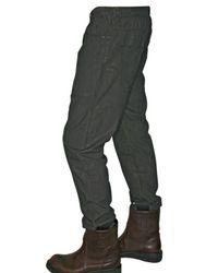 Rick Owens - Gray 17cm Waxed Poplin Jeans for Men - Lyst
