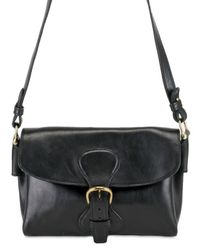 Saddlers Union | Black Small Messenger Cow Leather Shoulder Bag for Men | Lyst