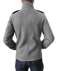 Simon Spurr   Gray Wool Peacoat for Men   Lyst