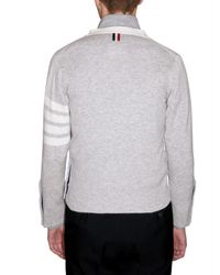 Thom Browne   Gray Cashmere Knit Cardigan Sweater for Men   Lyst