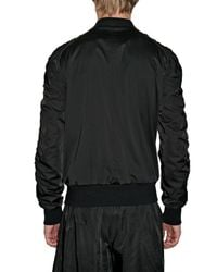 Tom Rebl - Black Stretch Satin Bomber Jacket for Men - Lyst