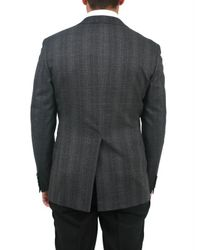 Tonello - Gray Prince Of Wales Two Button Jacket for Men - Lyst