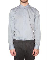 Viktor & Rolf - Blue Eyeglasses Logo Poplin Shirt for Men - Lyst
