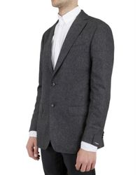 Z Zegna - Gray Silk and Wool Flannel Slim Jacket for Men - Lyst