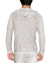 Z Zegna - Gray Hooded Long Sleeve Viscose Jerse T-shirt for Men - Lyst