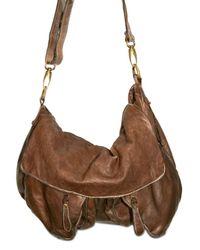 Giorgio Brato | Brown Washed Calfskin Messenger Shoulder Bag for Men | Lyst
