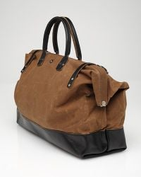 Billykirk | Brown Waxed Cotton Large Carryall for Men | Lyst