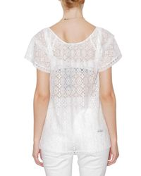 Dolce & Gabbana - White Flower Lace T-shirt - Lyst