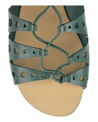Proenza Schouler - Green Lace-up Leather Sandals - Lyst