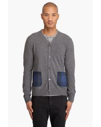 Comme des Garçons | Gray Plaid Pocket Wool Cardigan for Men | Lyst