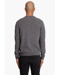 Comme des Garçons - Gray Plaid Pocket Wool Cardigan for Men - Lyst