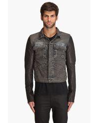DRKSHDW by Rick Owens - Blue Denim Leather Jacket for Men - Lyst