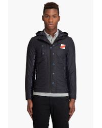 G-Star RAW | Blue Mitch Hooded Overshirt for Men | Lyst