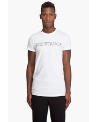 Kris Van Assche | White Resistance T-shirt for Men | Lyst