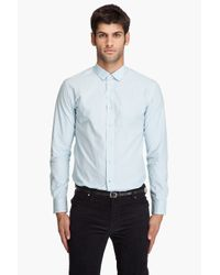 Paul Smith | Light Blue Small Check Shirt for Men | Lyst
