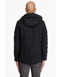 Robert Geller - Black Hooded Toggle Coat for Men - Lyst