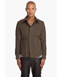Robert Geller | Natural Field Jacket for Men | Lyst