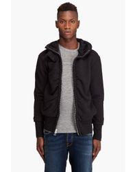Tim Hamilton | Black Hooded Jersey Rib Sweater for Men | Lyst