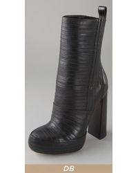 Alexander Wang | Black Tasha Bandage Leather Boots | Lyst