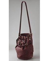 Alexander Wang | Red Diego Leather Bucket Bag | Lyst
