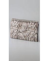 Alexander Wang | Gray Amber Notebook Clutch | Lyst