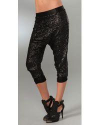 Alice + Olivia | Black Sequin Slim Pants | Lyst