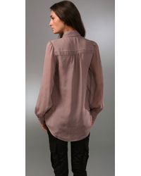 Alice + Olivia - Pink Pintuck Tunic Blouse - Lyst