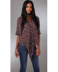 Blu Moon | Purple Mighty Aphrodite Blouse | Lyst