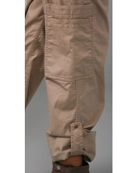 DKNY | Natural Pure Dkny Cargo Pants | Lyst