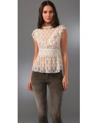 Free People | White Victoria Top | Lyst