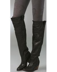 Frye - Black Taylor Over The Knee Boots - Lyst