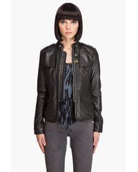 G-Star RAW - Black New Deanie Leather Jacket - Lyst