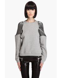 Hussein Chalayan | Gray Pleat Invasion Sweatshirt | Lyst