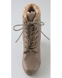 Jeffrey Campbell - Gray Erikson Shearling Clog Booties - Lyst