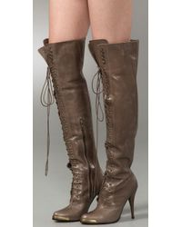 Joie - Natural Top Of The World Over The Knee Boots - Lyst