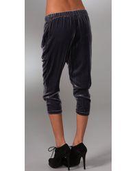Lover - Blue Velvet Slouchy Pants - Lyst