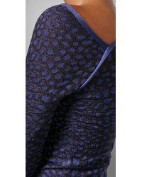M Missoni - Purple Crocodile Intarsia One Shoulder Dress - Lyst