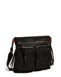MZ Wallace   Black 'mia' Bedford Nylon Crossbody Bag   Lyst