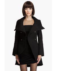 Mackage - Black Diana Elegant Herringbone Military Coat - Lyst