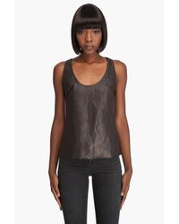 Mackage | Black Leather Tank | Lyst