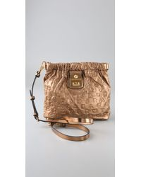 Marc By Marc Jacobs | Metallic Dreamy Logo - Sia Embossed Crossbody Bag | Lyst