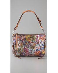 Nanette Lepore | Multicolor Metallic Floral Chain Clutch | Lyst