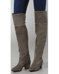 NDC | Green Nixie Suede Over The Knee Boots | Lyst